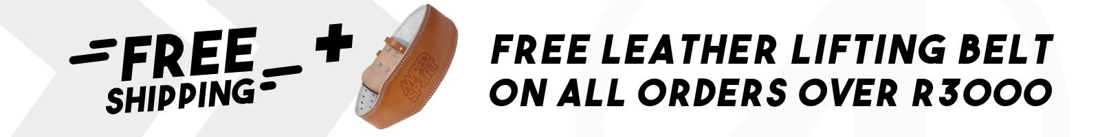free shipping + belt